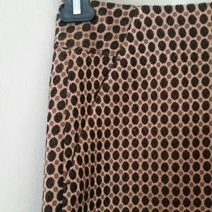 Ann Taylor Loft women's polka dot Aline skirt